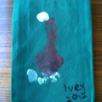 Dish Towels, memories, Christmas, kids craft, homemade, gift, holidays, present, toddler, http://www.adaptivemom.com, hands, feet, moose, Rudolph, angel, Christmas tree, penguin, Santa hat, Santa Clause, Mistletoe, mistletoes, reindeer